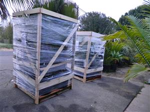 pallets of plants ready for delivery