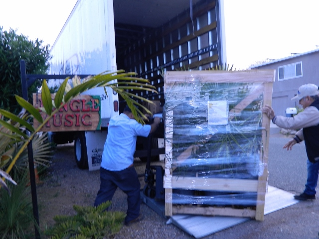 loading pallet of plants
