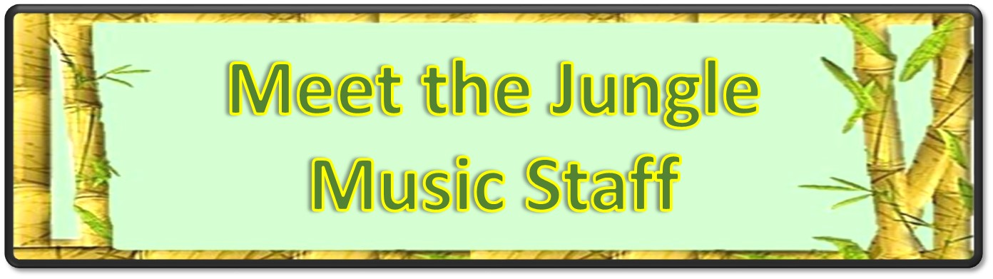 Jungle Music Staff Banner Full Size